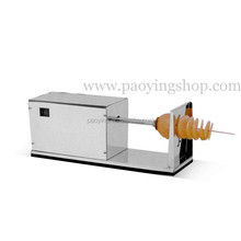 Stainless Steel 110v 220v Electric Automatic Spiral Potato Slicer with 12L Deep Fryer and 1000pcs Bamboo Skewers
