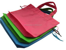 Promotional Heat Sealing PP Non Woven boys drawstring backpack with self fabric handles