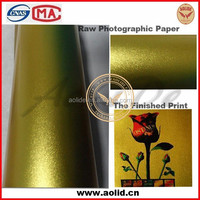 Inkjet Printing Self-adhesive Sand Gold Photo Paper