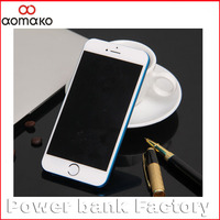 Mobile phone power bank for iphone 6 ,5000mah external battery charger ,power supply