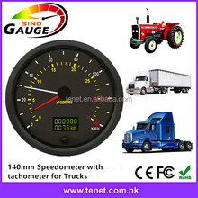 Digital speedometer and tachometer for Volvo/Man/Mack Trucks , Over Speed Alarm (Threshold Programmable)