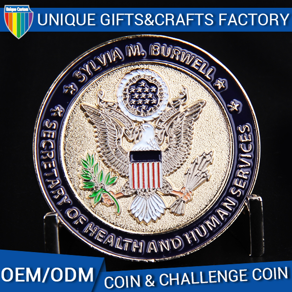 Manufacturer wholesale custom logo commemorative coin eagle