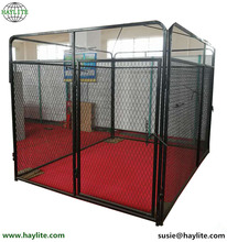 High quality steel black large outdoor dog kennel wholesale