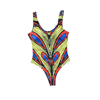 80403-MX63 2018 new design wholesale print pretty bathing suit sexy one piece swimsuit for women