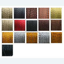 2*0.75/3*0.75mm Twisted Braided Cloth Covered Copper Wire All Color