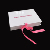 High Glossy White Printing Pink Logo Gift Insole Gift Packing Ribbon Box with Paper Inside Holder