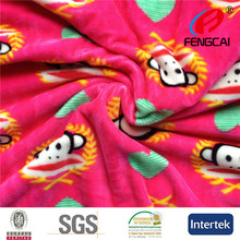 High popular Iraq Rotary print spandex velboa fabric for garment