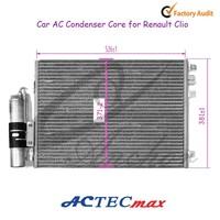 Car AC Condenser Core for Renault Clio Kangoo, 7700428083 8200086193 8200106950 8200757789