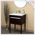 26'' Modern Concise Style Black Cherry Wooden Bathroom Furniture w/ Marble Countertop