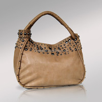 25008-2016 newest fashion design beutel hobo bag hobo handbag with studs