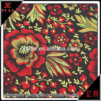 Beautiful design polyester floral dress fabric