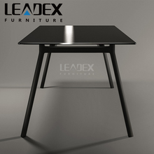 Luxury Glass Steel Table Base Conference Room Table