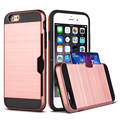 2017 brush cases for iphone 6 , High quality card holder case for iphone 6