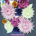 Handmade Colorful Craft Giant Paper Flower For Wall Decoration