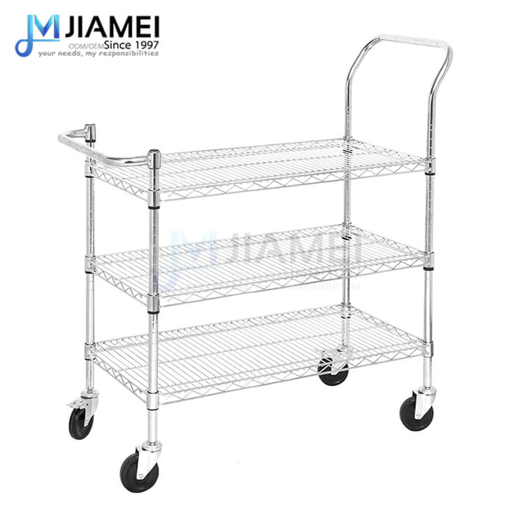 Adjustable Steel Push Trolley Cart