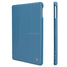 Simple And Plain Cross Pattern Full Body Flodable Stand PU Leather Shell Case for iPad Mini 2