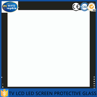 TV/LCD cover screen protector clear chemically tempered glass