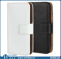 Pure Color Wallet Style Magnetic Flip Stand PC+PU Leather Case for Samsung Galaxy Ace 4 G313