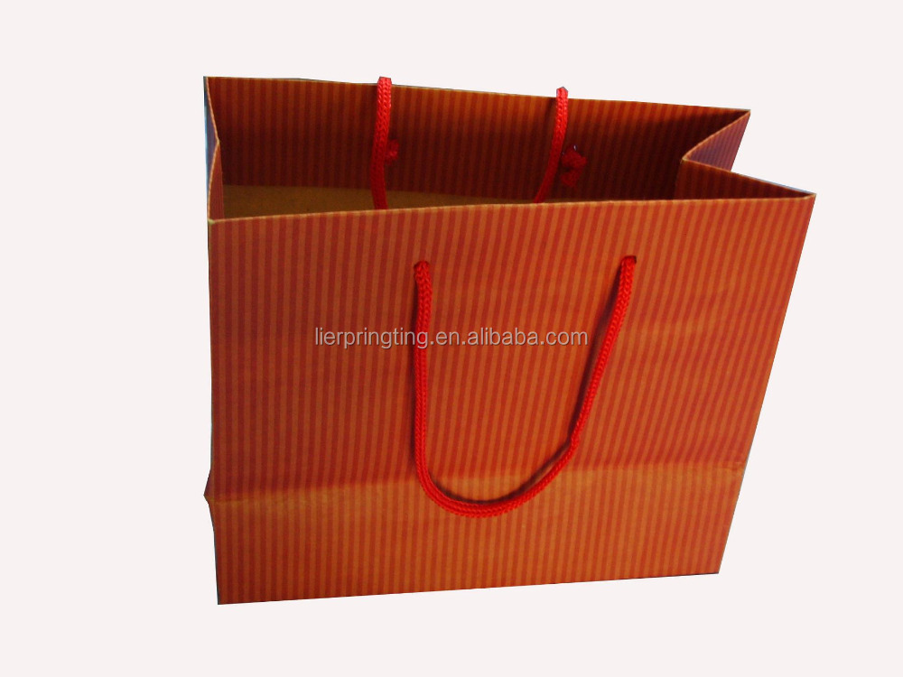 China wholesale custom logo printed shopping paper gift bag packaging paper bag with handles