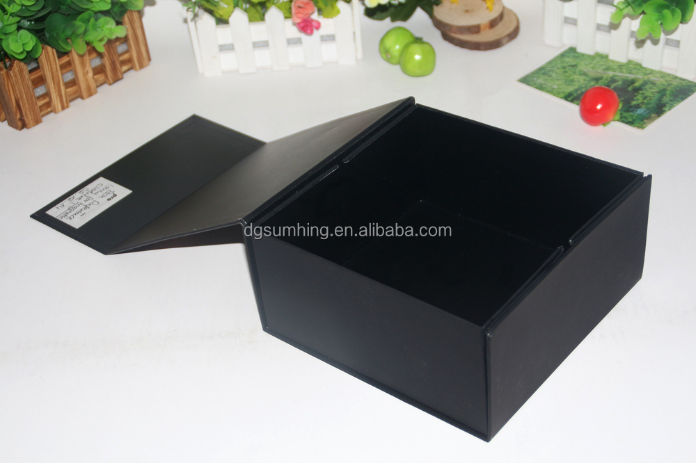 folding paper package box elegant packaging black gift box