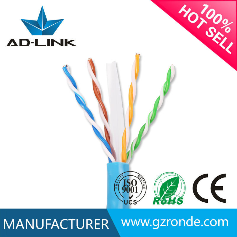 <strong>U</strong>/UTP copper conductor HDPE jacket utp cable cat6 price per box