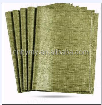 Green/Gray sand bag made from Recycled material for sand packing from China factory direct supplier pp bag