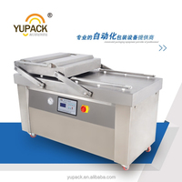 Double chamber vacuum package machine with 600mm sealing line