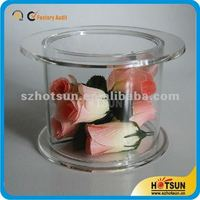 hot sale tabletop 2 Tier Round Clear Perspex Cupcake Display Stand