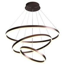 Stock! Fancy indoor acrylic coffee color ring 800+600+400+200 led circle pendant lighting chandelier modern
