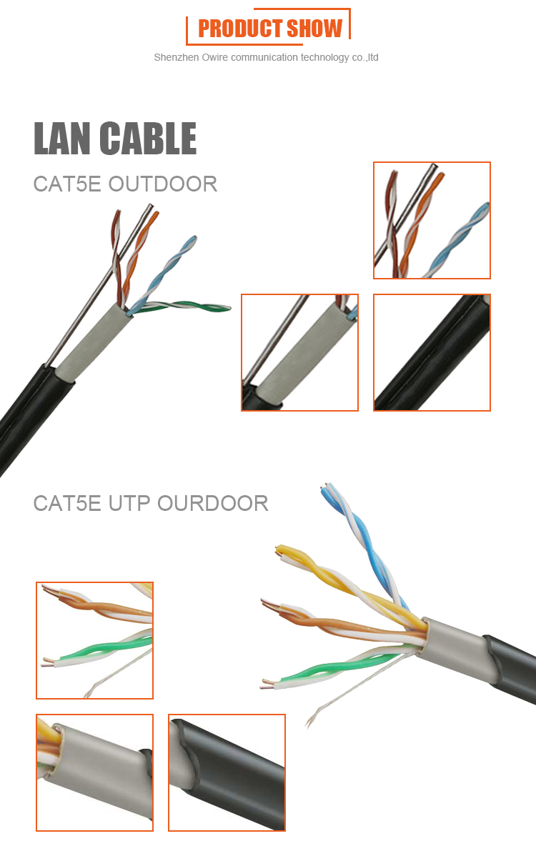 Wholesale Best Price Outdoor Cat5e Utp 050mm Bc Cca Network Cable Pinout