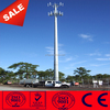 telecommunication steel monopole antenna tower