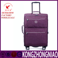 Professional Factory Supply simple design travel luggage trolley bag from China workshop customized logo