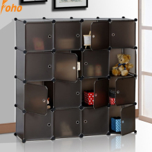 16 cubes Innerlocking pvc wardrobes with brown color(FH-AL0056-16)