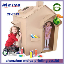 2015 new children kids cardboard cubby house for kingdergarten