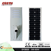 2017 Wholesale all in one solar led street light 8W 15W 30W 50W 60W 80W