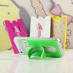 New design phone silicone card holder wallet, Sticky Wallet Silicone Smart Wallet, Mobile Phone Silicone Card Holder