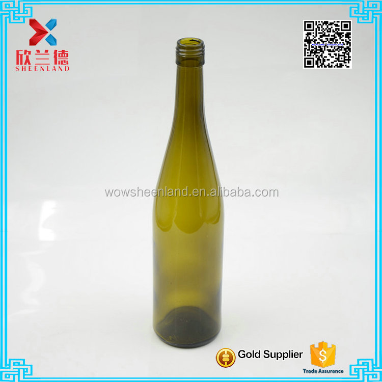glass material 750ml Yellow huge wine bottle