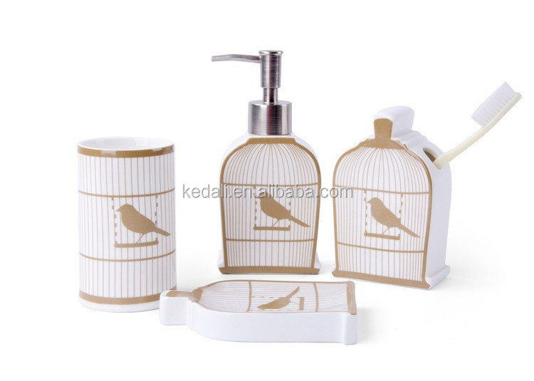 Euro style bird design ceramic nautical bathroom accessories decor