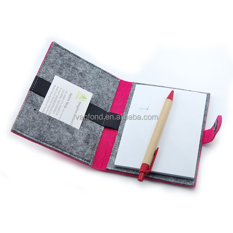 Custom Promotional Business Card Holder Notebook with Pen Set for Office Supplies Wholesale