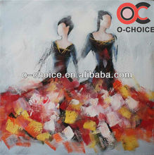 Modern abstract art abstractly acrylic dance paintings