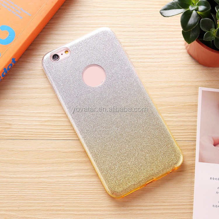 Flash Powder TPU Case For Iphone 6S Plus for Iphone 6Plus, Bling Change Colors For Luxury Iphone Case