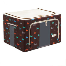 Multipurpose Foldable Waterproof 600D Clothing Blanket Pillow Cloth storage box With Double Zipper