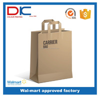 New products brown paper bag packaging with FSC printing certificate factory