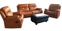 Elegant relax luxury home living room furniture Genuine leather/PU/Fabric classic sofa modern reclining sofa set
