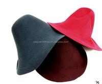 Felt capeline hat, wool felt hoods.wool felt hats capeline . hat cones