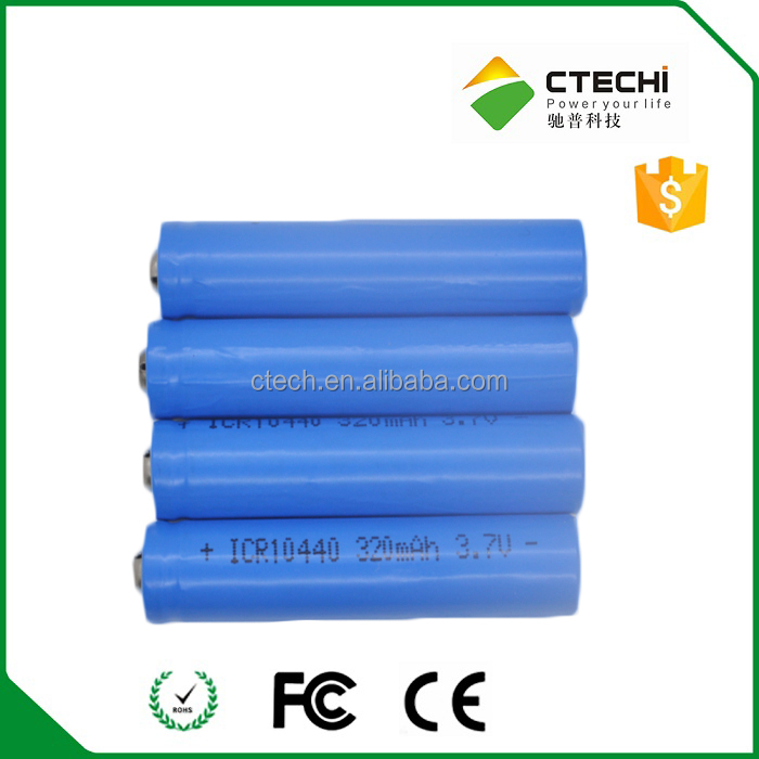 ICR10440 3.7V 360mAh Rechargeable Lithium Battery
