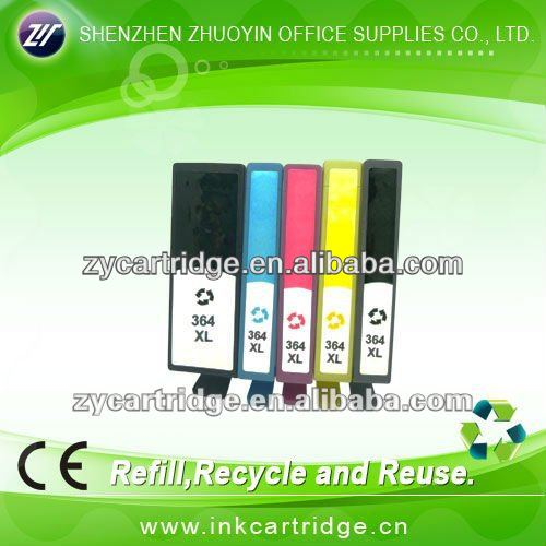 Inkjet refill ink cartridge for Hp 364XL/564XL, with auto reset chip.