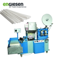 automatic paper wrapping drinking straw single packing machine printing