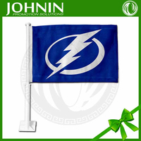 custom made 100d polyester new promotion best quality cheap Tampa Bay Lightning custom car flags
