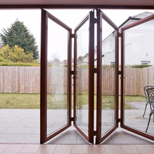 Standard Size French Style Double Glazing Aluminium Bifold Door